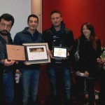 GGJ12 - The team receives the Neoludica prize for art.